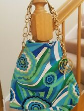 Juicy Couture Satin Gold Chain Link Strap Bag