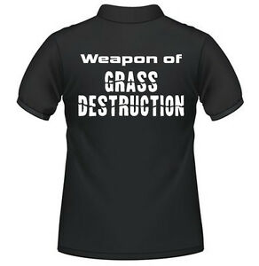 Farming Tractor Polo Shirt Slogan Fendt Massey Case New Holland - Weapon of