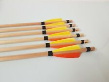 x12 traditional wooden arrow 36-40# (wood nock)