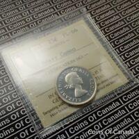 1955 Canada 25 Cents Silver Quarter - ICCS PL-66 Heavy Cameo #coinsofcanada