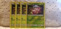 Pokemon TCG 4x Exeggcute 1/156 (1 Reverse Holo) SM Ultra Prism Grass English New