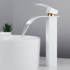 Tall Waterfall Bathroom Taps Basin Sink Mixer Tap Counter Top  Filler Shower