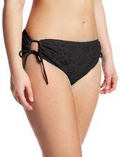 Kenneth Cole Reaction Bikini Bottom Sz 3X Black Crochet Side Tie Swim Pant