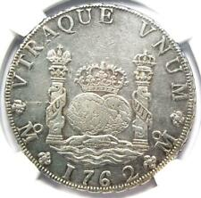 1762-MO MM Mexico Pillar Dollar 8 Reales Coin (8R) - Certified NGC AU Details