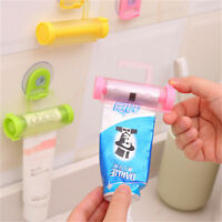 2 Pcs Plastic Rolling Tube Squeezer Toothpaste Easy Dispenser Bathroom Holder UK