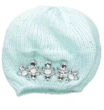 ABG Accessories Big Girls Embellished Stone Beret Blue One Size