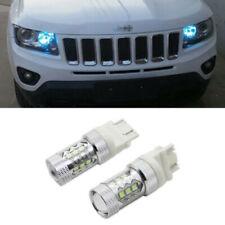 2x Ice Blue LED Daytime DRL Lights Fog Lamps Bulbs For Chevy Corvette Tahoe, etc