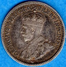 Canada 1912 5 Cents Five Cent Small Silver Coin - VF/EF