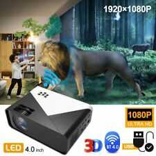 4K HD Smart Android LED Projector Wifi BT 2800LM HDMI Video Home Theater Cinema