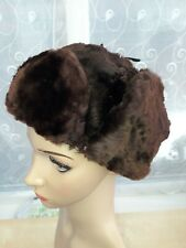 VINTAGE CLASSIC RUSSIAN WINTER MEN HAT MADE FROM FUR size M/58 cm