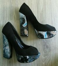 New Look Faux Suede Floral Heels for Women
