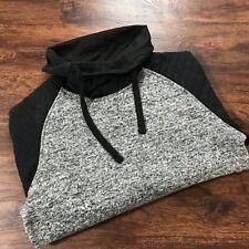 SOUTHPOLE Drawstring Turtleneck Gray & Black Pullover Sweatshirt Women's Size L