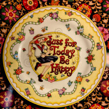 Vintage Mary Englebreit Just For Today Be Happy Decorative Plate