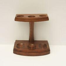 Vintage 3 Pipe Display Holder Rack Stand Decatur Industries Deco Genuine Walnut