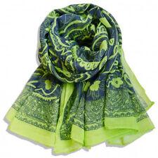 Women's green Cotton Soft Vintage Style Scarf Shawl Wrap 70''X35''