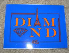 DIAMOND SUPPLY CO 3X4 Blue Paris Skate Sticker Logo skateboards helmets decal