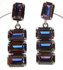 SoHo® Ohrstecker mit vintage 1960`s baguette Kristalle oktagon achteck bermuda