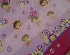 Dora the Explorer Twin Flat Sheet and Boots Cotton purple Cutter Fabric Craft Gc