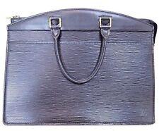*Authentic LOUIS VUITTON Black Noir Epi Leather Riviera Handbag France M48182