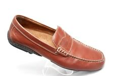Rockport Chaden Mens Size 12 Brown Leather Slip On Moc Toe Driving Penny Loafers