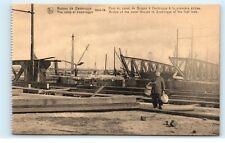 *Zeebrugge Belgium The Ruins Bridge of the Canal Bruges First Lock Postcard B93