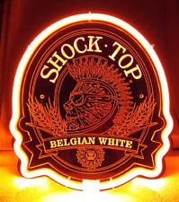 SB340 Shock Top Belgian White Beer Display Neon Light 3d Acrylic Sign New 11x10