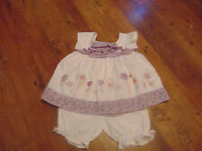 Girls purple and white 2 piece outfit (age 9-12 months) OFFERS INVITED
