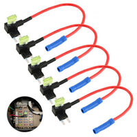 5Pcs Car Fuse Holder Adapter Blade Micro Add-a-circuit Tap APM Mini Auto ATM