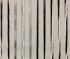 "Ballard Designs Vintage Ticking Navy Blue Multipurpose Fabric by The Yard 56""w"