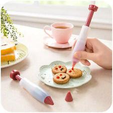 Silicone Pen/Syringe Fondant Cake ICING WRITING TUBE NOZZLE Cooking Decorating