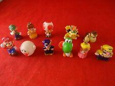 Set of 11 Nintendo Gashapon Figures Mario Luigi Peach Bowser Donkey Kong Yoshi