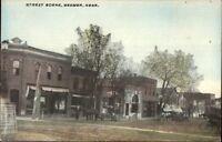Beemer NE Street Scene c1910 Postcard