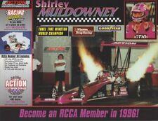1996 Shirley Muldowney Action Performance Top Fuel NHRA IHRA postcard