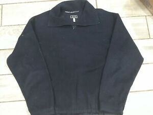 Giorgio Armani Golf mens Blue Fleece Collar ZIP Pullover U.S Size 32 Long Sleeve