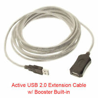 15 Ft USB 2.0 High Speed Type A Male to Female Active Extension Cable w/ Booster