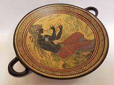 Auletris Greek Mythology Rare Hellenic Ancient Art Pottery Tray Aged Kylix