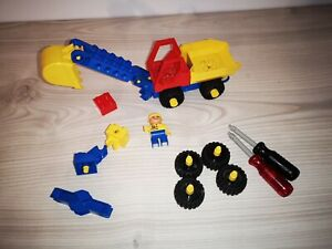 Duplo Sammlung Toolo 2920 Dig and Dump Truck mit Figur viel extra Zubehör rar kg