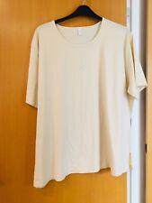 TK Maxx Ladies Top / Tee Shirt  Not Sure Of Make Size 30 Beige 100 % Cotton