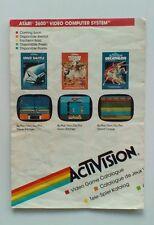 Retro Activision Video Game Catalogue for Atari 2600