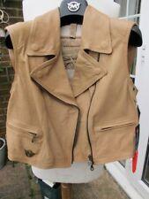 MATCHLESS leather WAISTCOAT gilet jacket vintage TT races eu36 it42 UK10 bnwt