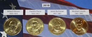 SET of 4 - 2010 Presidential Dollar Coins - $1 Coins - Complete 4 COIN YEAR SET