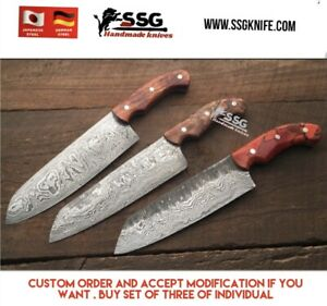 Custom High Carbon Forged Professional Balance Chef Knife Set Extreme Quality