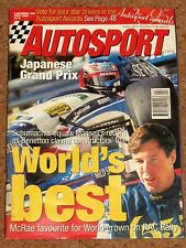 Autosport 2/11/95* JAPANESE GP - CATALUNYA RALLY - DTM REVIEW & MERCEDES POSTER
