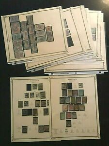 STAMPS FRANCE/FRENCH COLONY- MARTINIQUE-1886+ MINT & USED 18 pg  #101