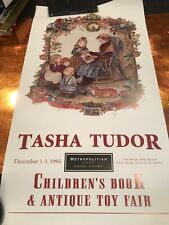 Tasha Tudor SIGNED and NUMBERED and doodled  poster 1995 30 x 16 NF