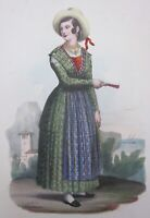 1846 Donna di Brazza litografia Carrara Focosi Brač Hrvatska Dalmacija Dalmazia