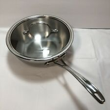 Calphalon Tri-Ply Stainless Steel 3 QT Saucepan with Glass Lid