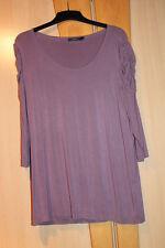 Damen Shirt Zero Tunika Damenshirt T-Shirt Rundhalsauschnitt 44 flieder altrosa