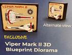Loot Crate Sci-Fi Battlestar Galactica Viper Mark II 3D Blueprint Diorama