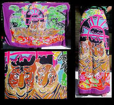 Batik Sarong Made in Bali Tigers with Floral Design